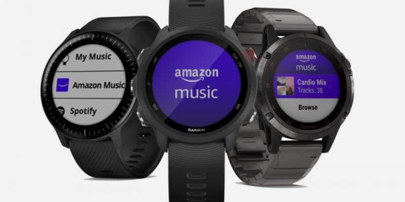 Garmin watches will now play nice with Amazon Music