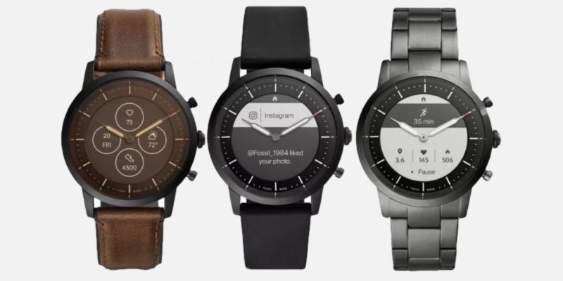Fossil Collider hybrid smartwatch with e-ink display ge...
